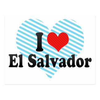 I Love El Salvador Postcard