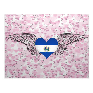 I Love El Salvador -wings Postcard