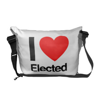 i love elected courier bags