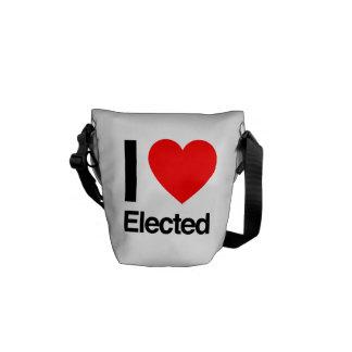 i love elected messenger bag