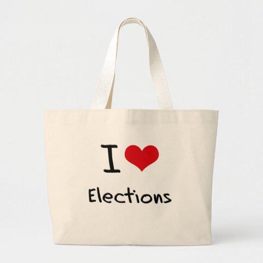 I love Elections Canvas Bag