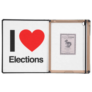 i love elections case for iPad