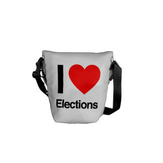 i love elections courier bags