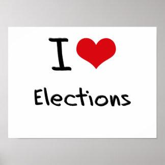 I love Elections Print