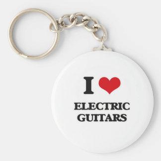 I Love Electric Guitars Keychain