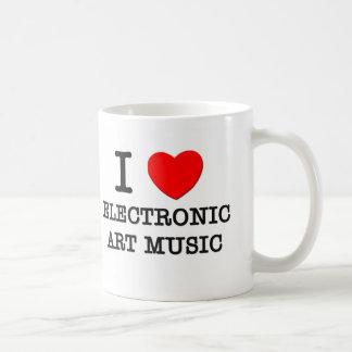 I Love Electronic Art Music Mugs