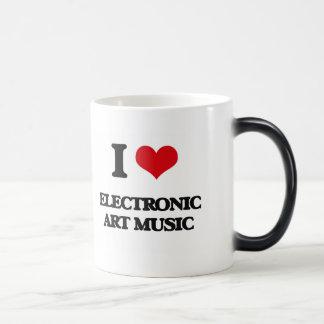 I Love ELECTRONIC ART MUSIC Coffee Mug