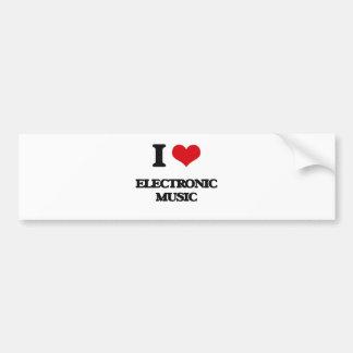 I Love ELECTRONIC MUSIC Bumper Sticker