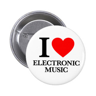 I Love Electronic Music 2 Inch Round Button