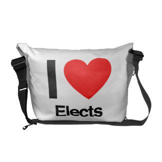 i love elects messenger bag