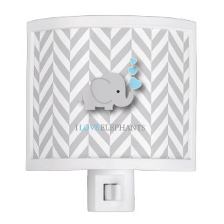 I Love Elephants - Baby Blue Night Lights