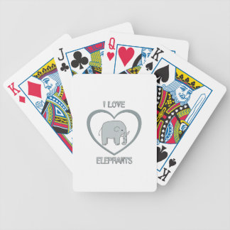I Love Elephants Bicycle Playing Cards
