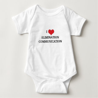 I Love Elimination Communication Baby Bodysuit
