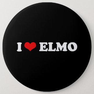 I LOVE ELMO 6 INCH ROUND BUTTON