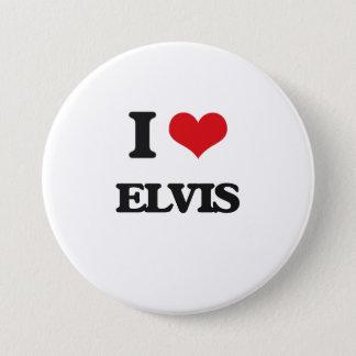 I Love Elvis 3 Inch Round Button