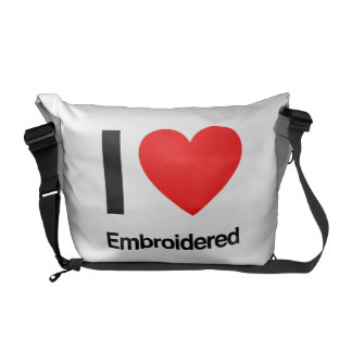 i love embroidered commuter bags