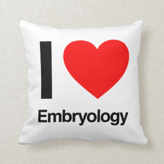 i love embryology throw pillow