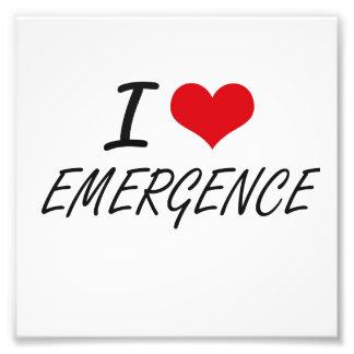 I love EMERGENCE Photo Print