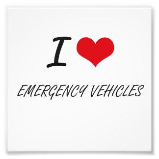 I love EMERGENCY VEHICLES Photo Print