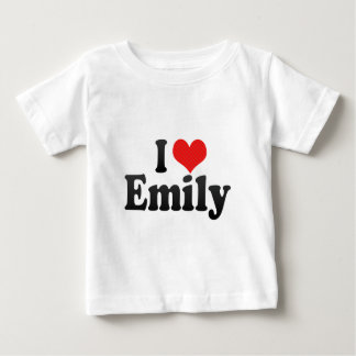 I Love Emily Baby T-Shirt