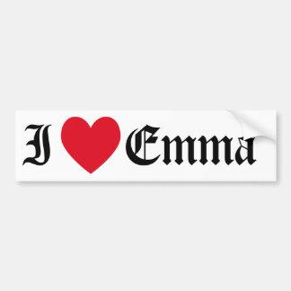 I Love Emma Bumper Sticker
