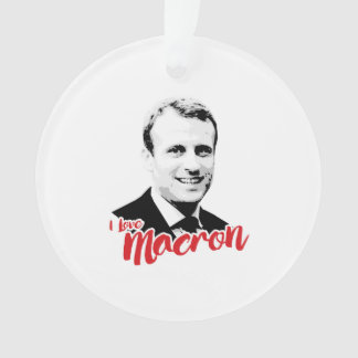 I Love Emmanuel Macron - Ornament