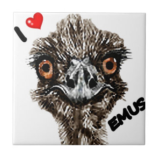 I LOVE EMUS CERAMIC TILES
