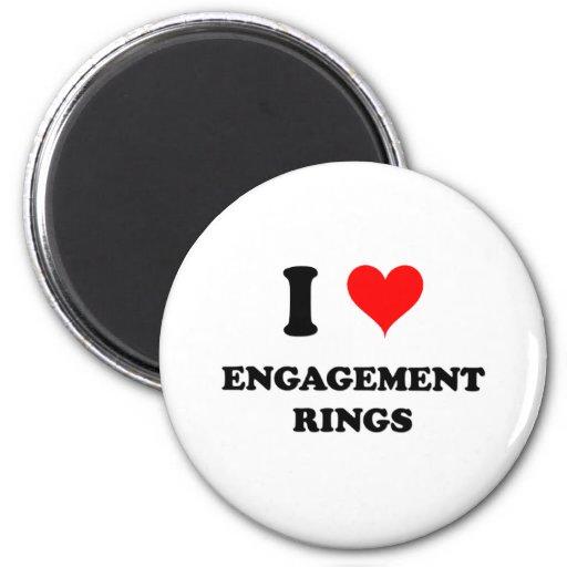 I Love Engagement Rings Fridge Magnets