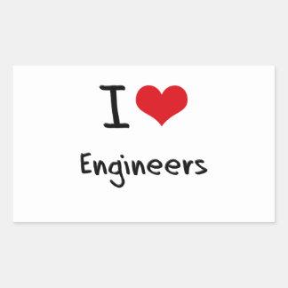 I love Engineers Sticker