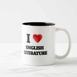 I love ENGLISH LITERATURE Two-Tone Coffee Mug