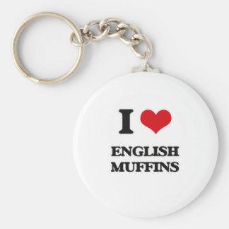 I Love English Muffins Keychain