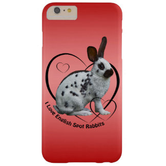 I Love English Rabbits iPhone 6 Case (Pink/Red)