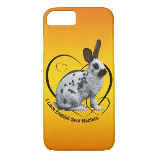 I Love English Rabbits iPhone 8/7 Case (Sunburst)