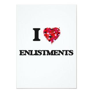 "I love ENLISTMENTS 5"" X 7"" Invitation Card"