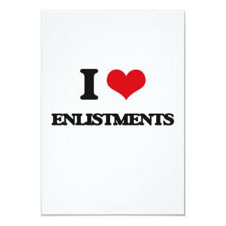 "I love ENLISTMENTS 3.5"" X 5"" Invitation Card"
