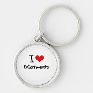 I love Enlistments Keychain