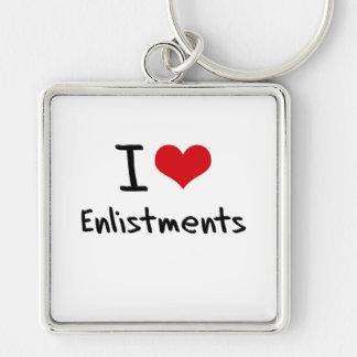 I love Enlistments Key Chains