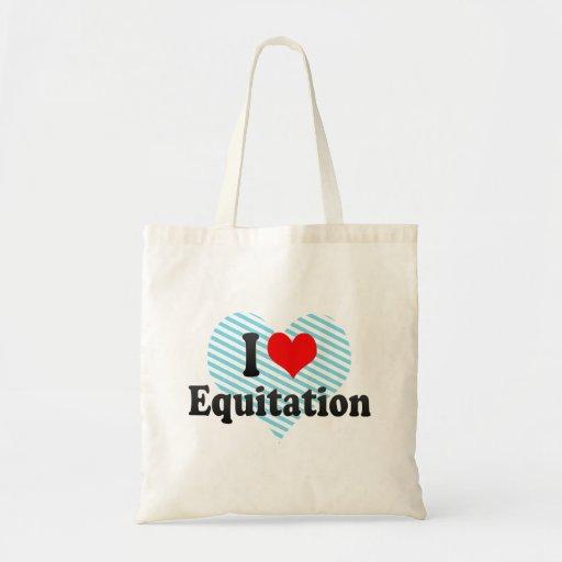 I love Equitation Tote Bags