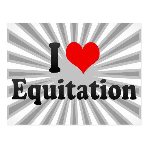 I love Equitation Postcards