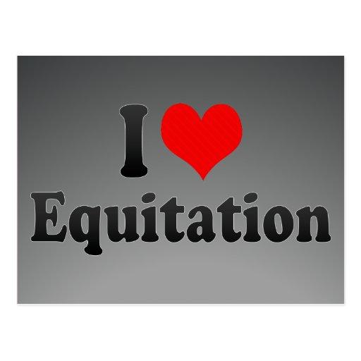I love Equitation Post Card
