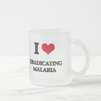 I love Eradicating Malaria Frosted Glass Coffee Mug