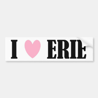 I LOVE ERIE BUMPER STICKER