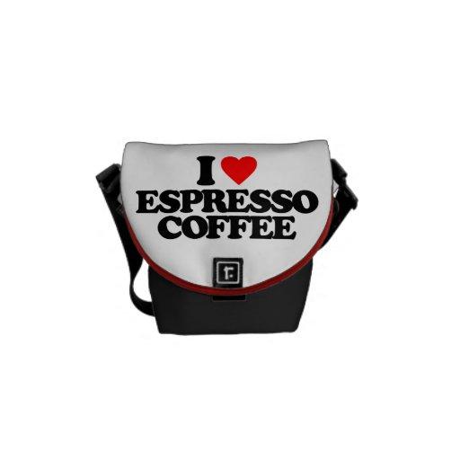 I LOVE ESPRESSO COFFEE MESSENGER BAG