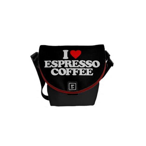 I LOVE ESPRESSO COFFEE COURIER BAGS