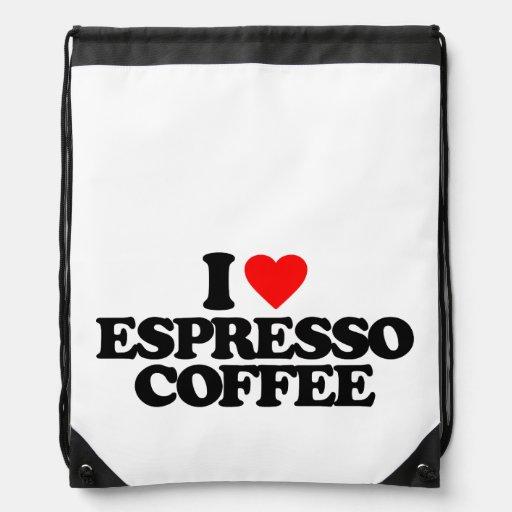 I LOVE ESPRESSO COFFEE CINCH BAG