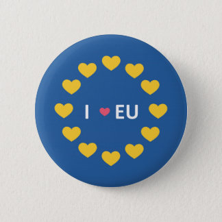 I love EU badge - remain voters in the referendum 2 Inch Round Button