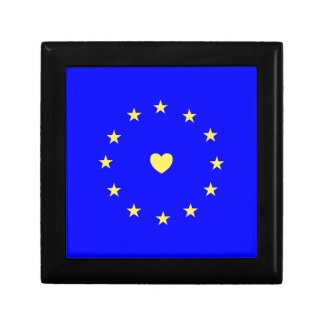 I Love Europe EU Flag with Heart Gift Box