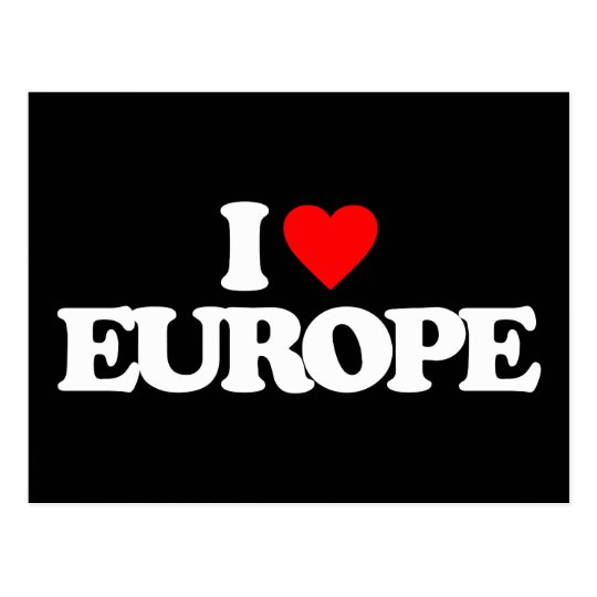 I LOVE EUROPE POSTCARD