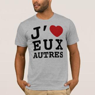 I Love Eux Autres T-shirt (American Apparel)