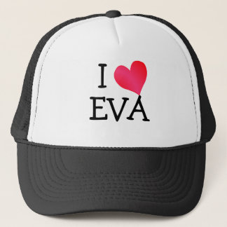 I Love Eva Trucker Hat